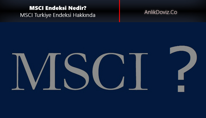 MSCI nedir, MSCI Turkiye endeksi nedir